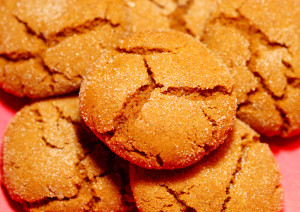 pile of spiced molasses cookies