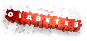 puzzle of letters that spell diabetes