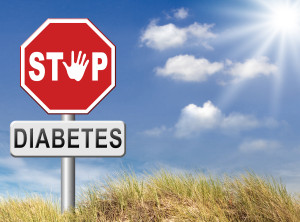 Image of a stop sign that says stop diabetes