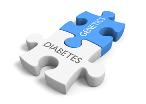 puzzle pieces of diabetes and genetics known as monogenic diabetes